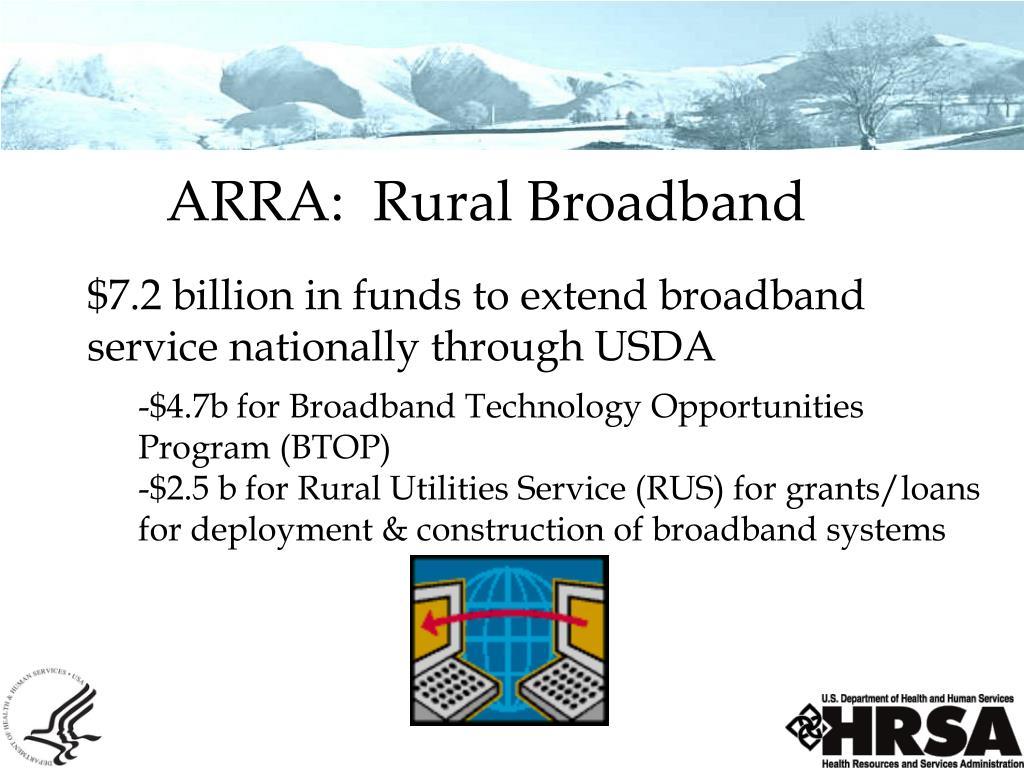 ARRA:  Rural Broadband