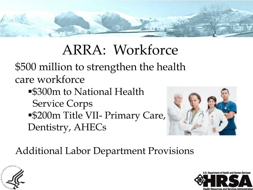 ARRA:  Workforce