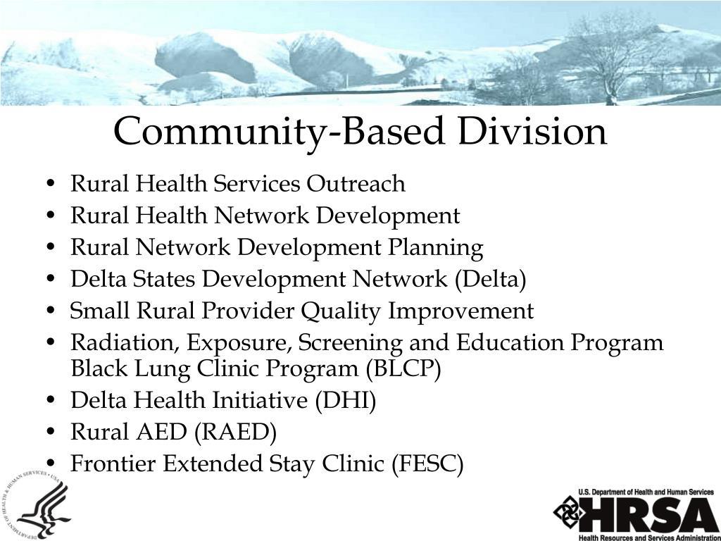 Community-Based Division