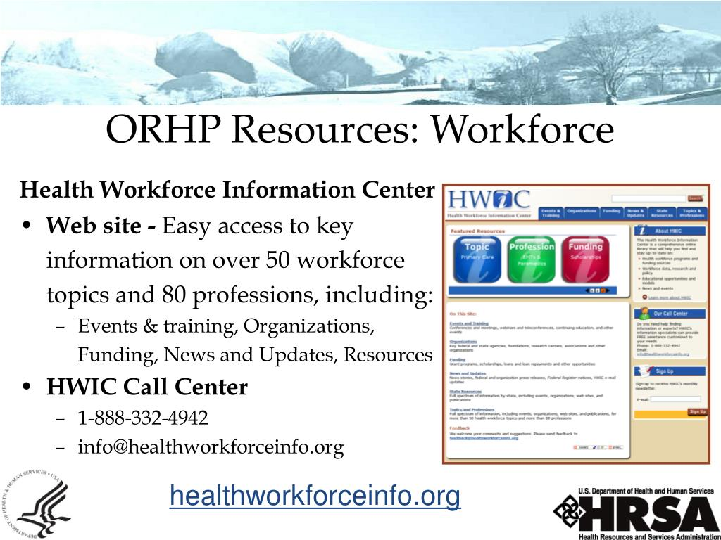 ORHP Resources: Workforce
