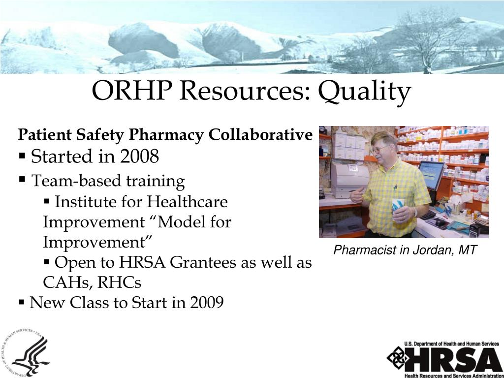 ORHP Resources: Quality
