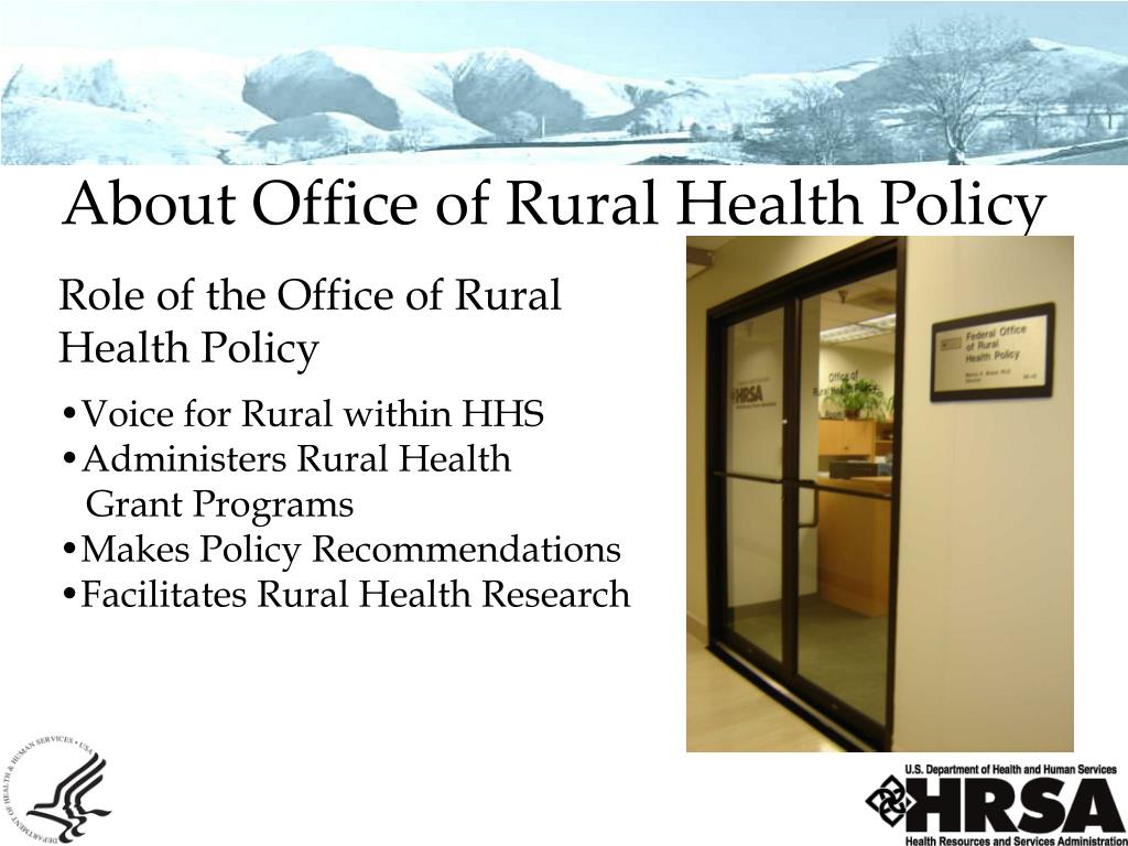 About Office of Rural Health Policy