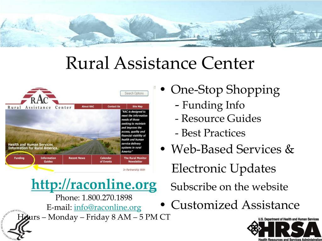 Rural Assistance Center