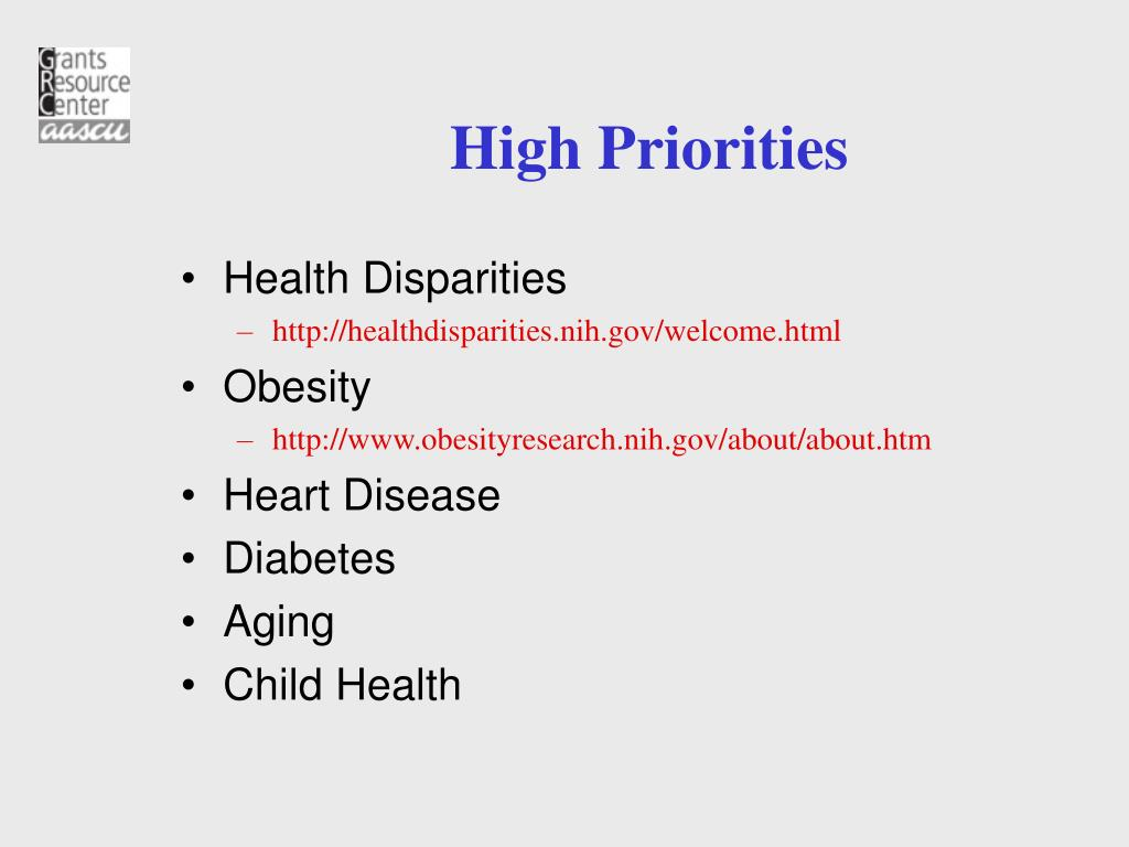 High Priorities