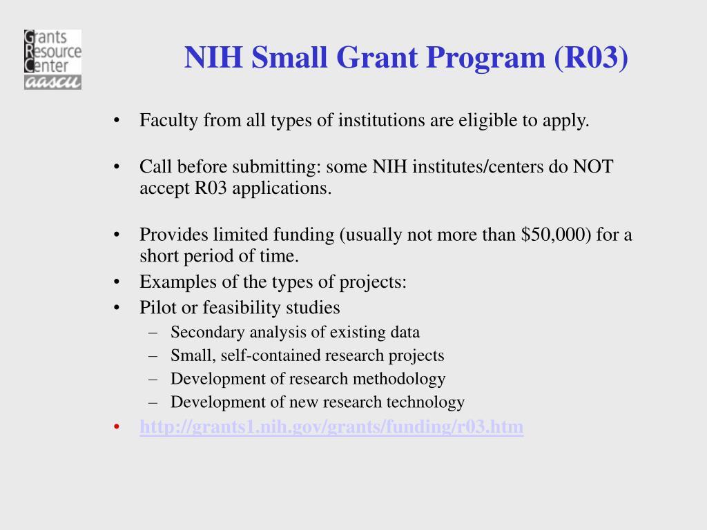 NIH Small Grant Program (R03)