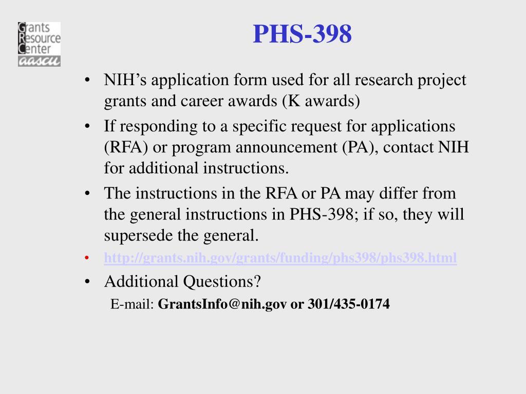 PHS-398