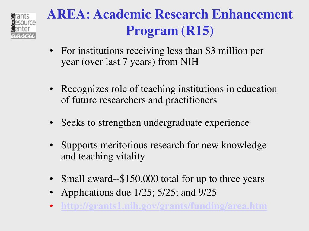 AREA: Academic Research Enhancement Program