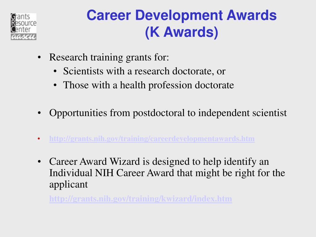 Career Development Awards
