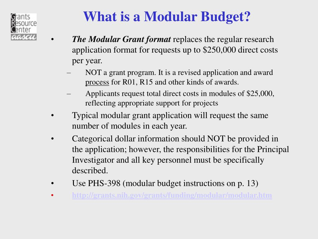 What is a Modular Budget?