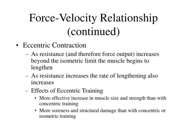 relationship of force and velocity