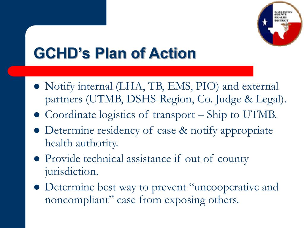 GCHD's Plan of Action