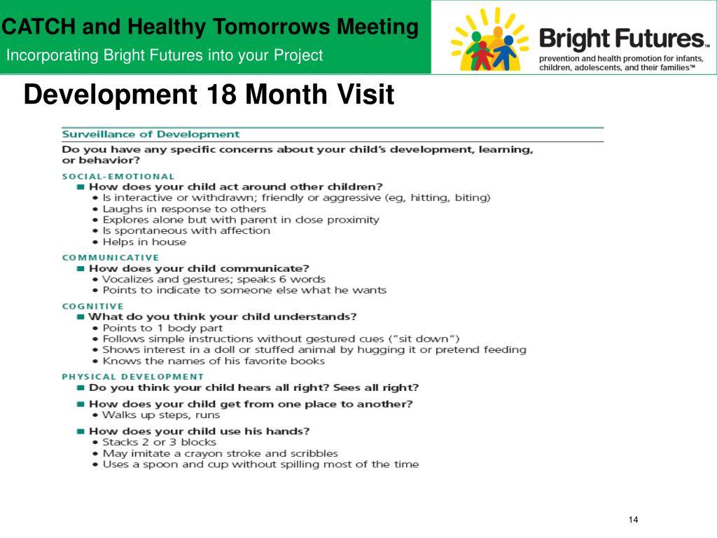 Development 18 Month Visit