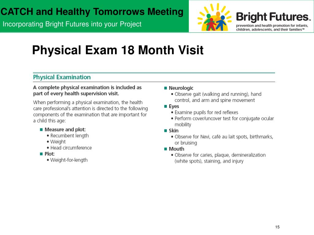 Physical Exam 18 Month Visit