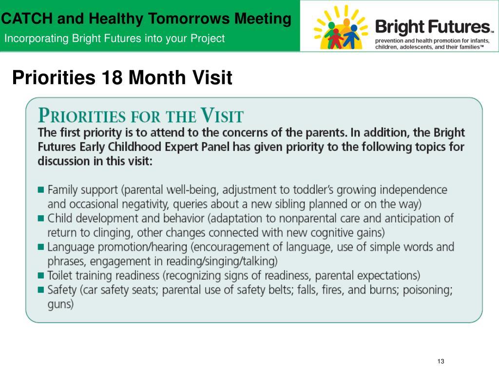 Priorities 18 Month Visit