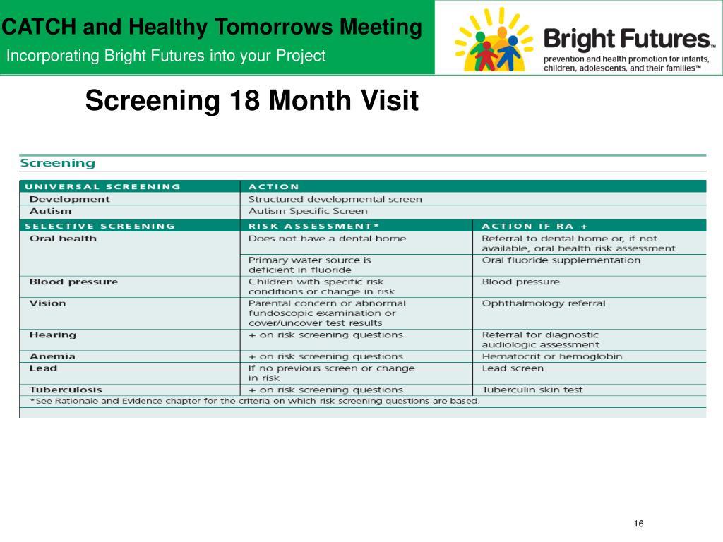 Screening 18 Month Visit