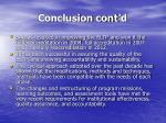 conclusion cont d