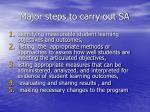 major steps to carry out sa