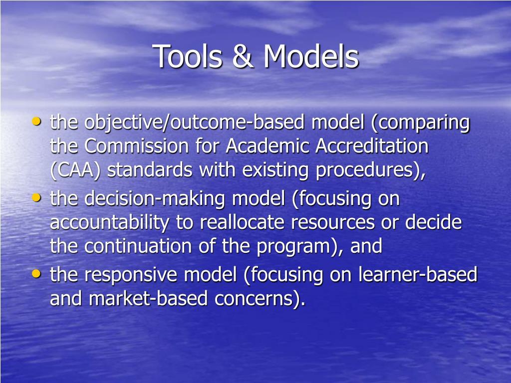 Tools & Models