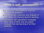 what is self assessment