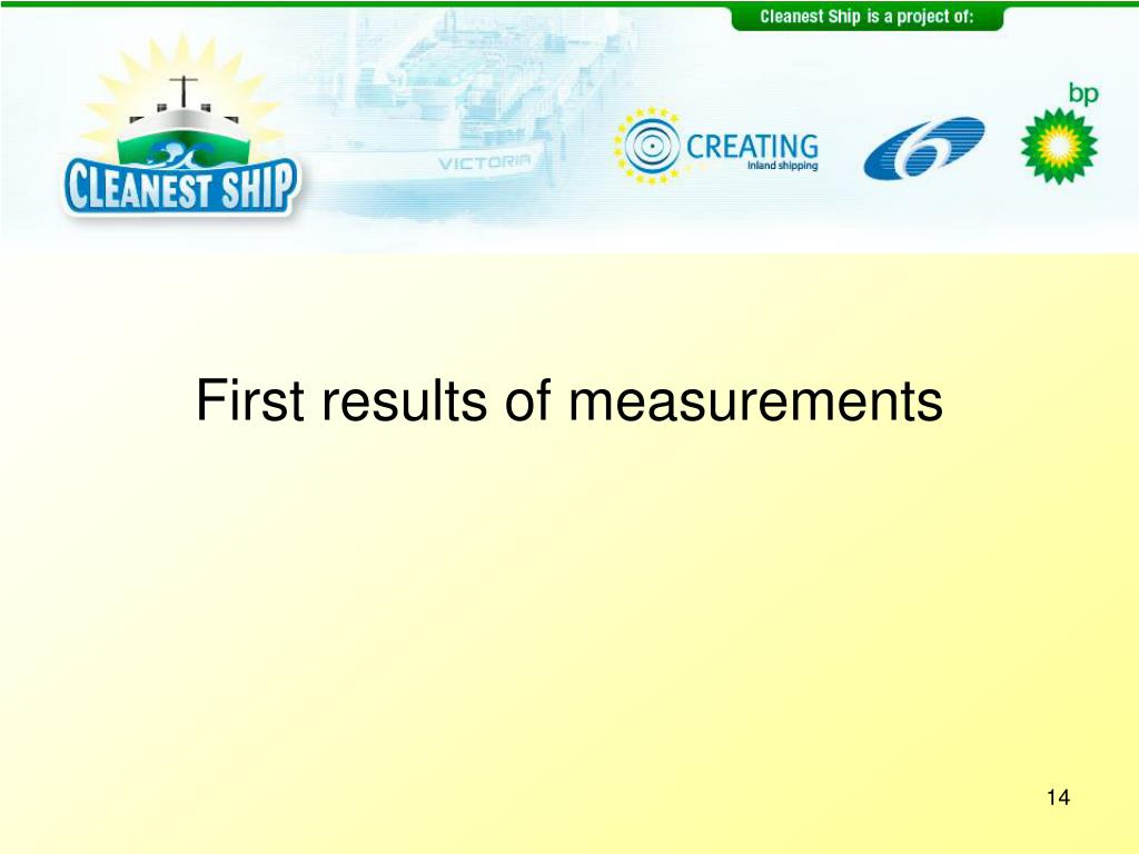 First results of measurements