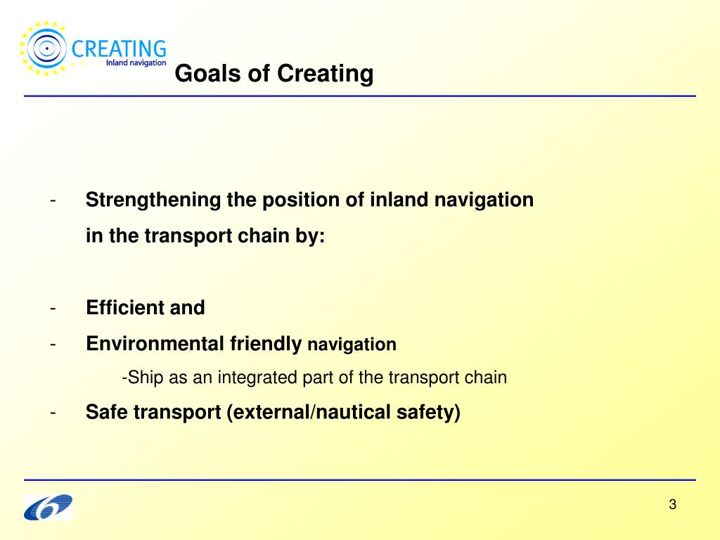 Goals of Creating