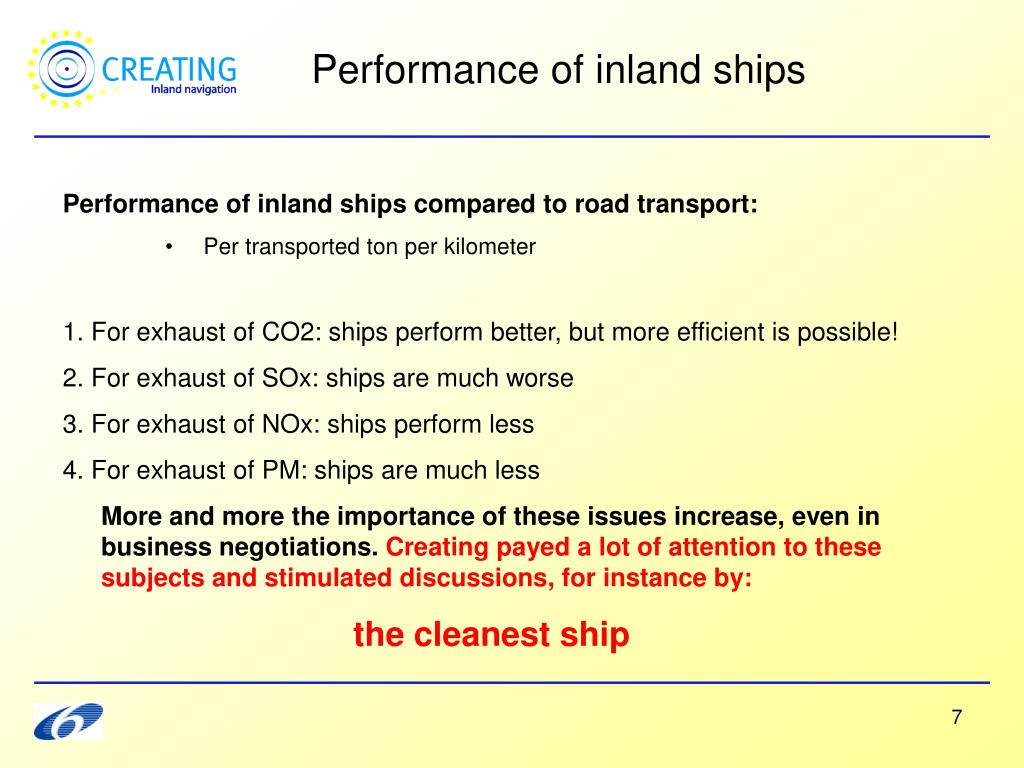 Performance of inland ships