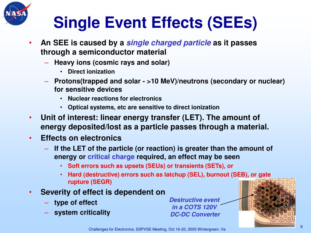 Single Event Effects (SEEs)