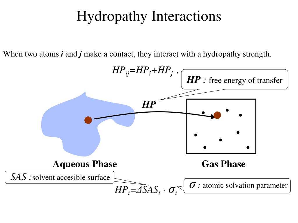 Hydropathy Interactions