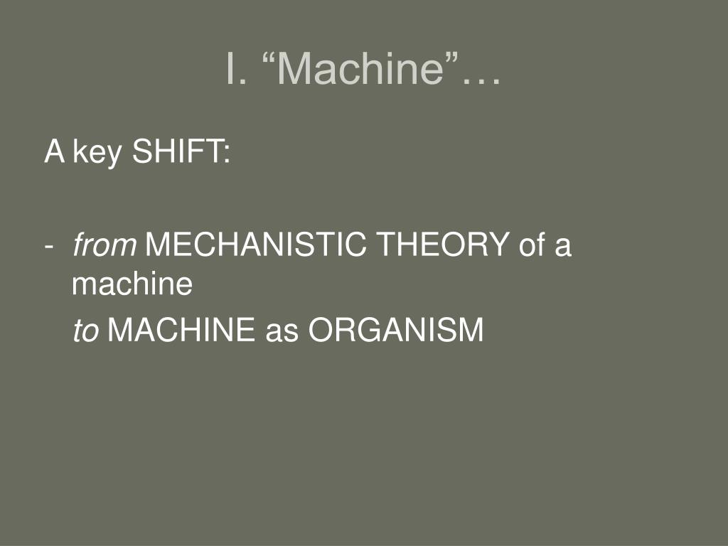 "I. ""Machine""…"