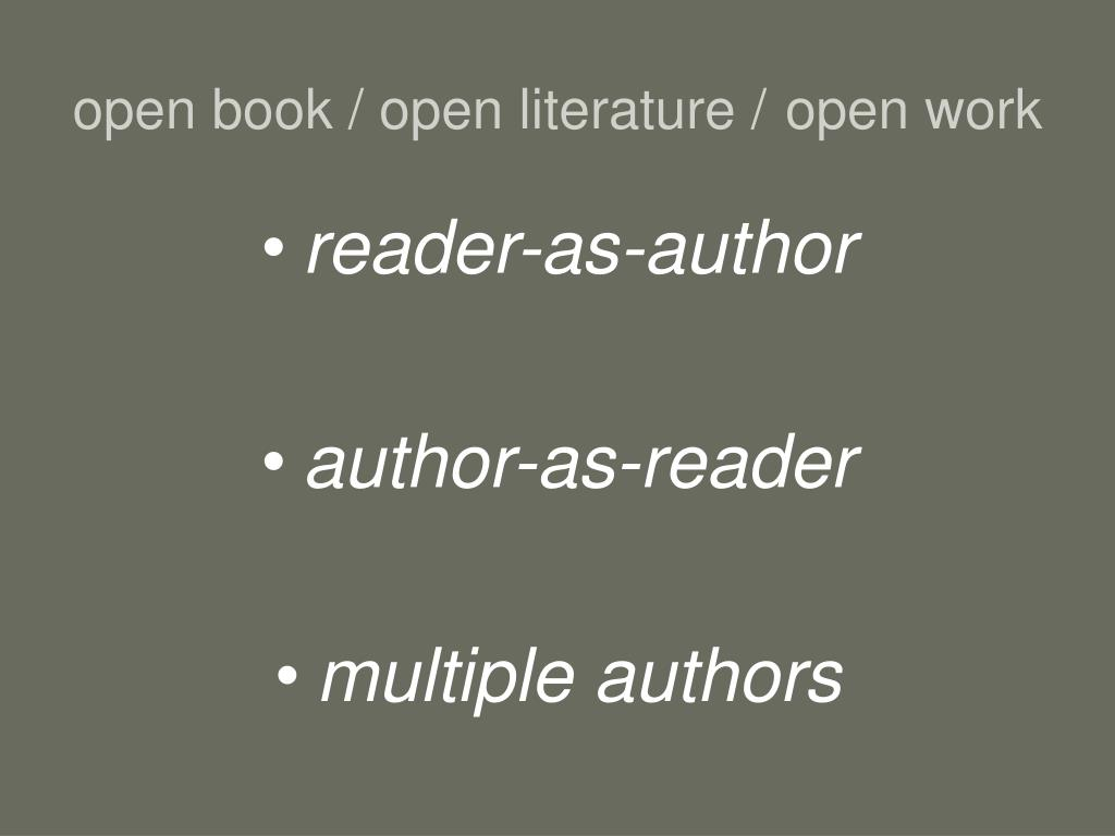 open book / open literature /