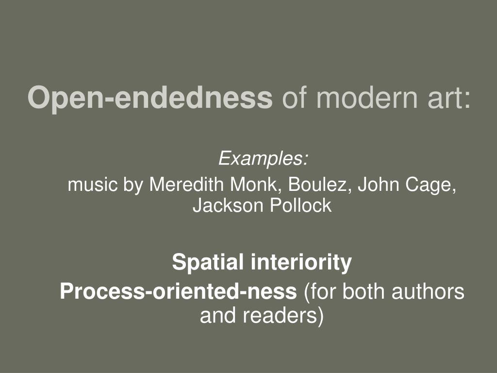 Open-endedness