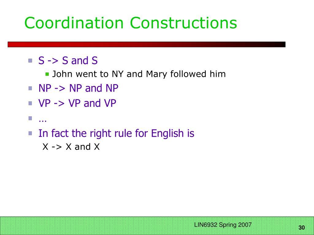 Coordination Constructions