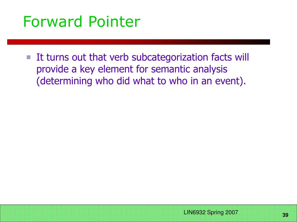 Forward Pointer
