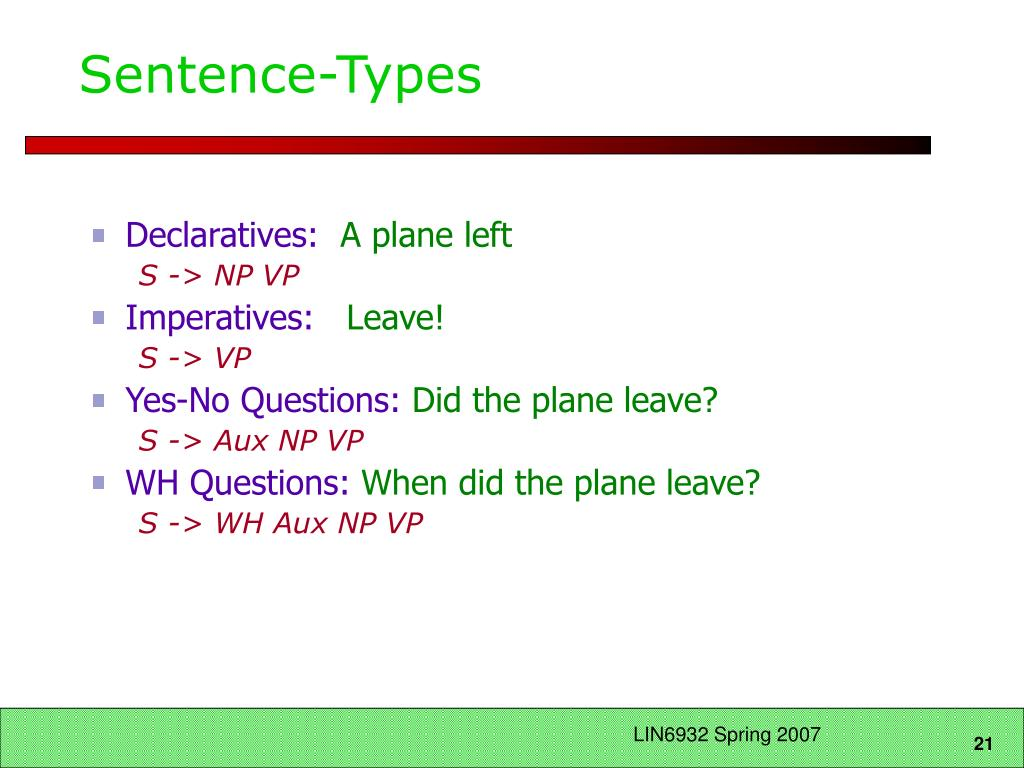 Sentence-Types