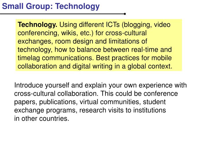 Small Group: Technology