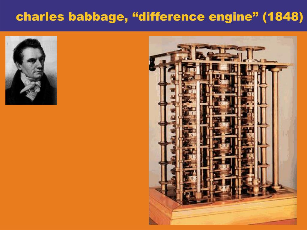 """charles babbage, """"difference engine"""" (1848)"""