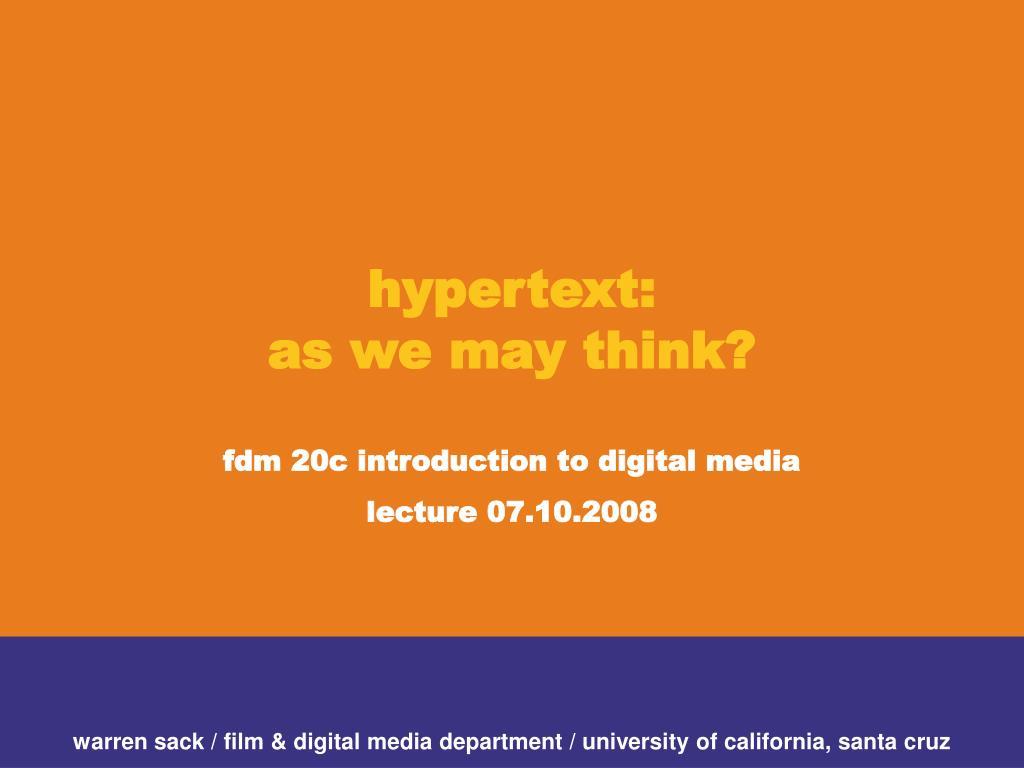 hypertext: