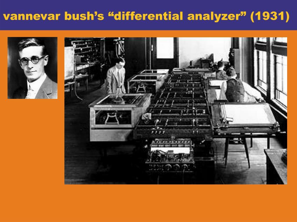 """vannevar bush's """"differential analyzer"""" (1931)"""