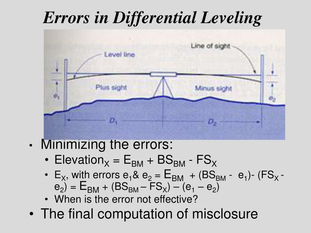 differential leveling Differential leveling importance of vertical positions a vertical positionis the height of a point relative to some reference surface, such as mean sea level, a geoid.