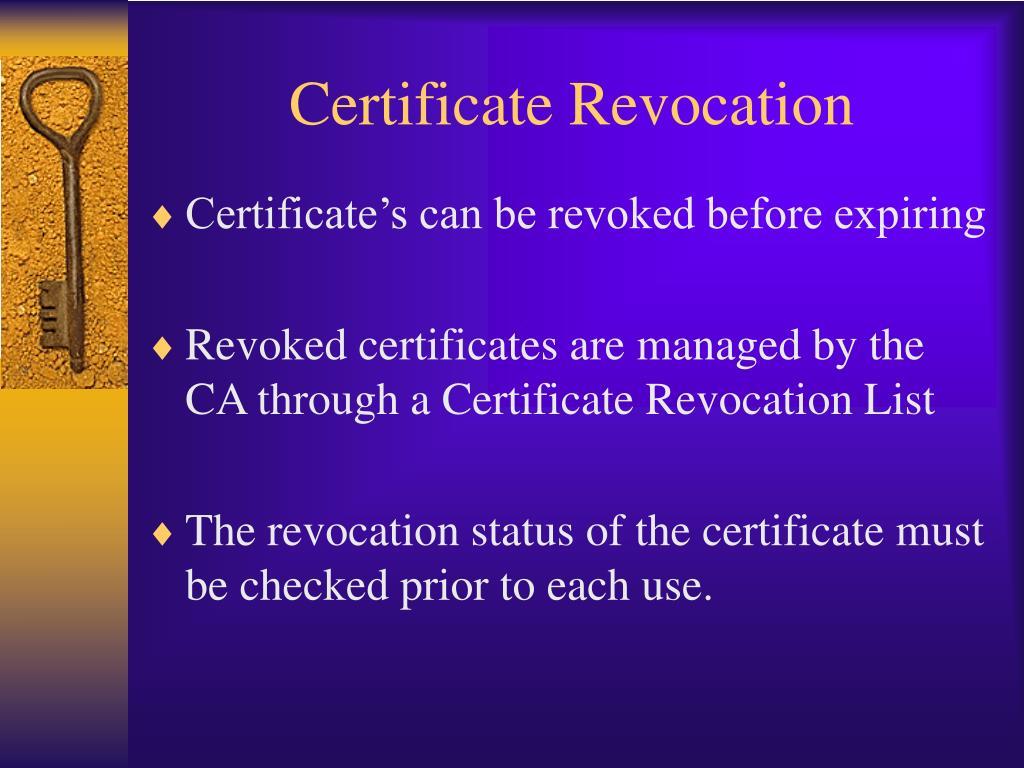 Certificate Revocation