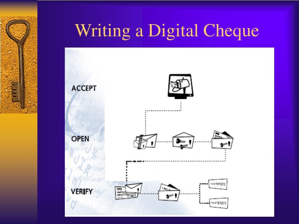 Writing a Digital Cheque