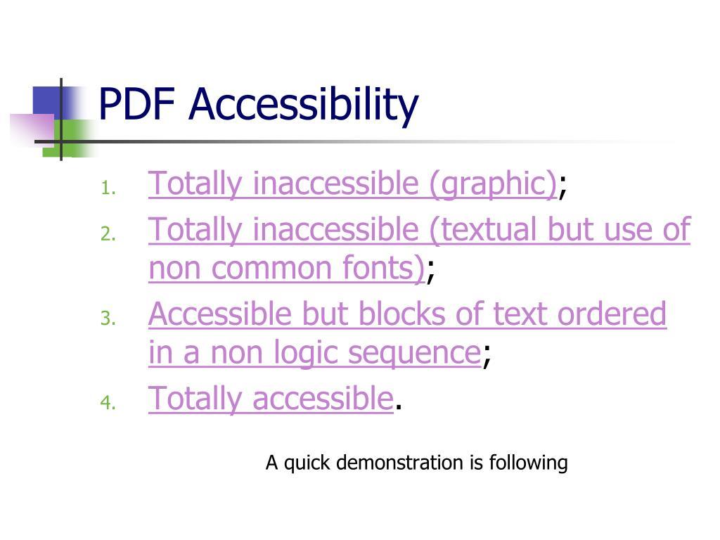 PDF Accessibility