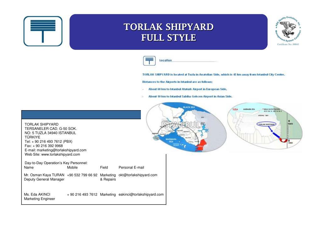 TORLAK SHIPYARD