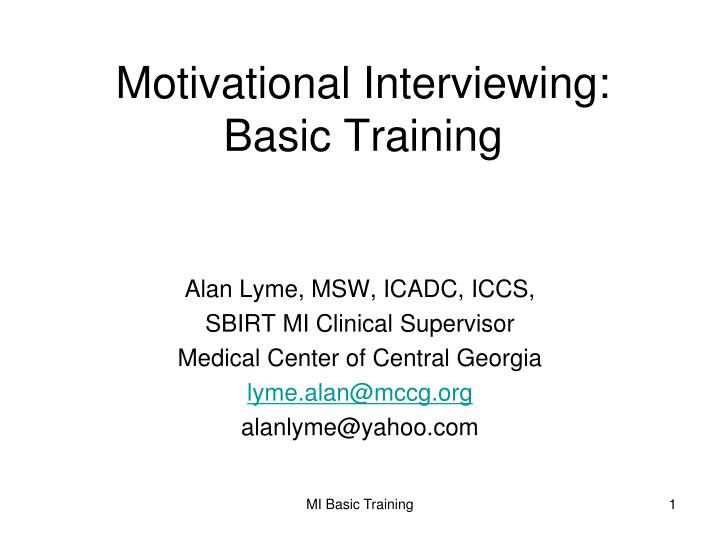 how to become a motivational interviewing trainer