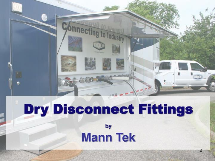 Dry disconnect fittings