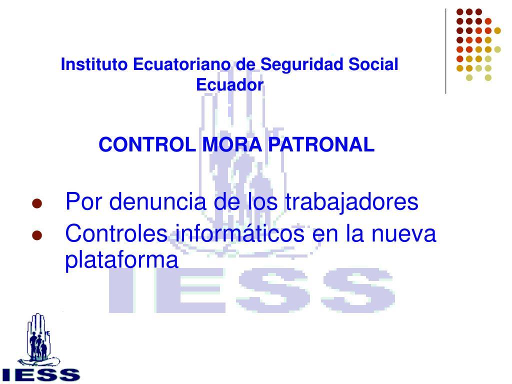 Instituto Ecuatoriano de Seguridad Social