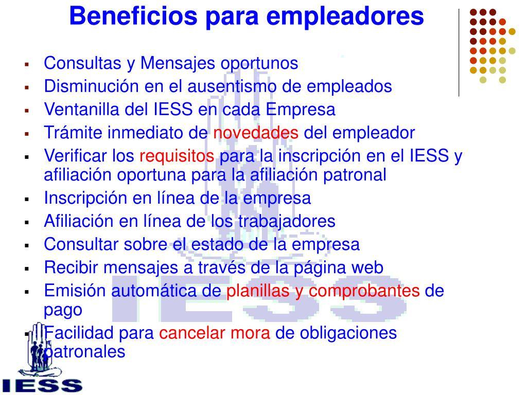 Beneficios para empleadores