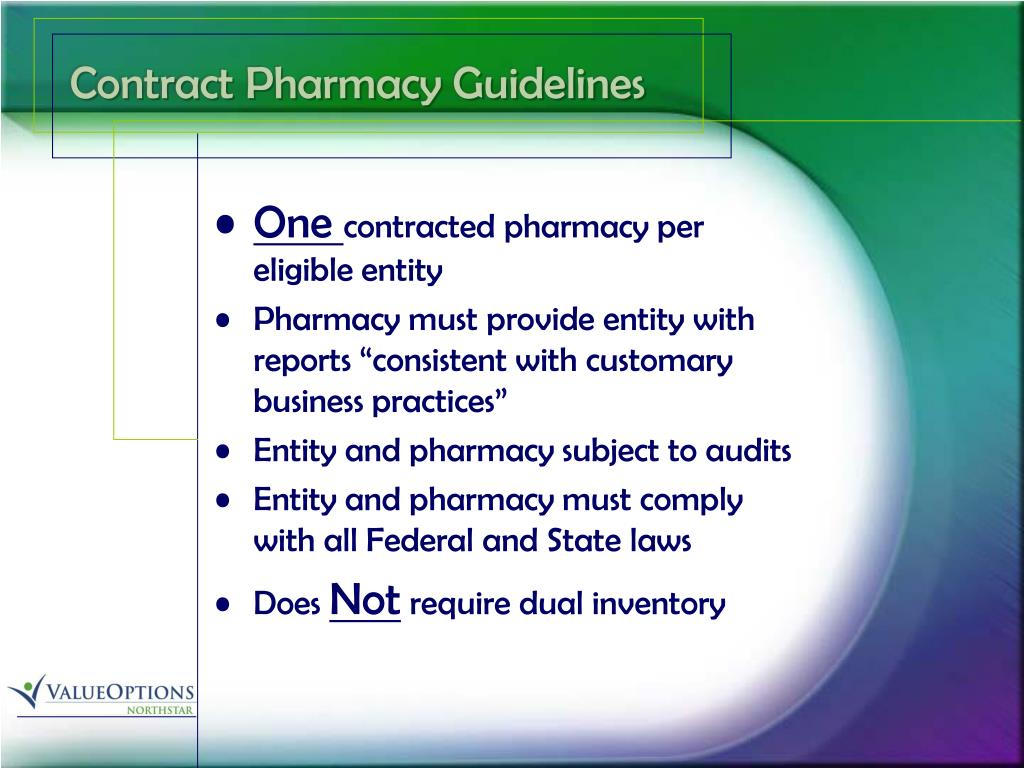 Contract Pharmacy Guidelines