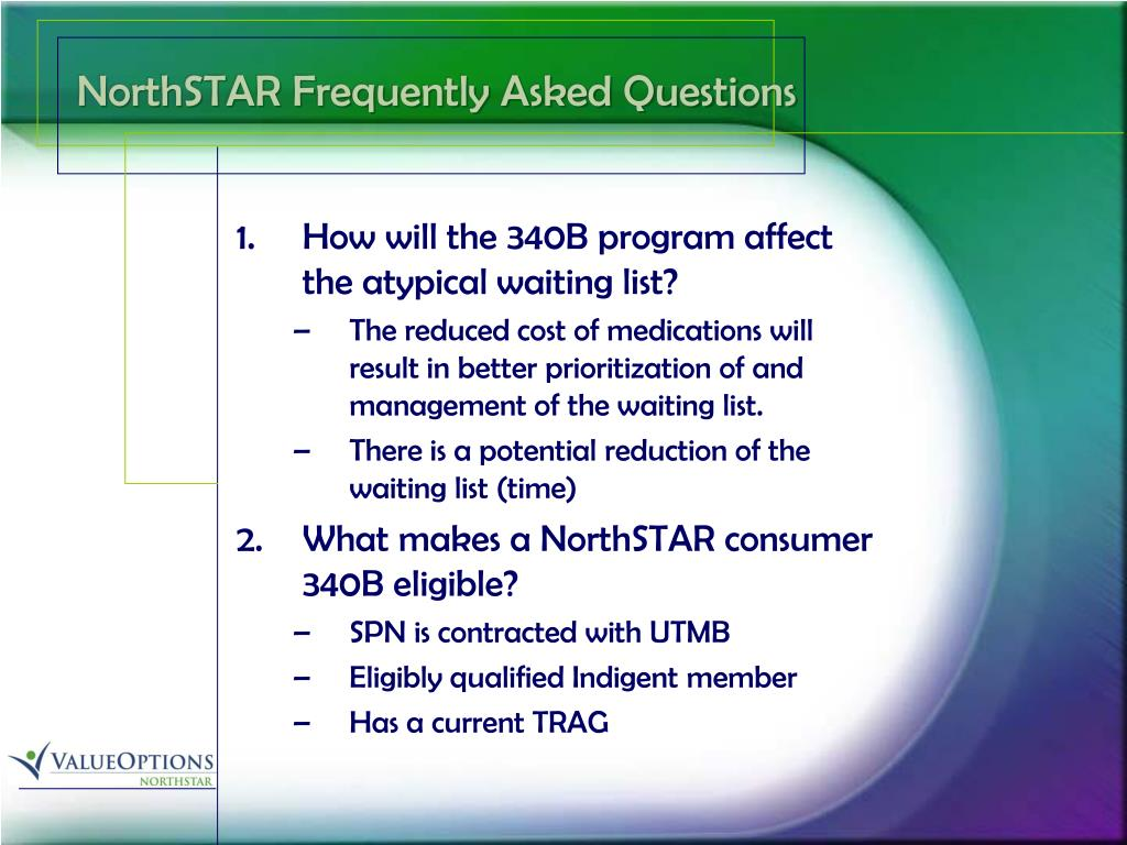 NorthSTAR Frequently Asked Questions