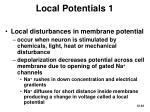 local potentials 1